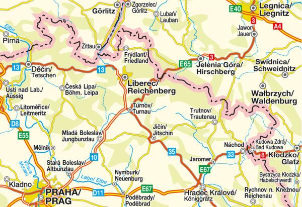 Blattschnitt CS 002 Nordböhmen-Ostböhmen