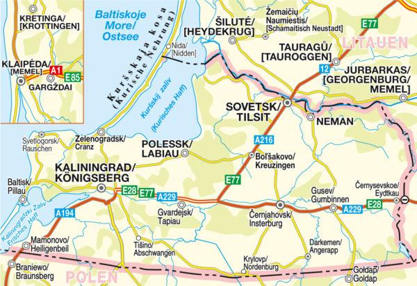 Blattschnitt RS 001 Nördliches Ostpreussen